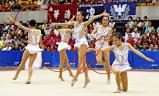 新体操女子団体で準優勝した城南静岡の選手たち ©読売新聞社