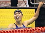 競泳女子400メートル自由形で優勝した埼玉栄の永島遥 ©読売新聞社