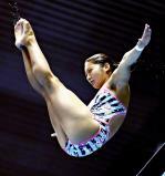 女子高飛び込みで5位入賞した別府翔青の漆間陽波乃 ©読売新聞社