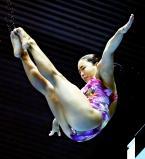 女子高飛び込みで4位入賞した帝京の近藤花菜 ©読売新聞社