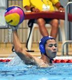 水球で、チームを引っ張った修道の山下航葵主将 ©読売新聞社