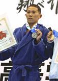 競泳男子200メートル個人メドレーで準優勝した近大付の井狩裕貴 ©読売新聞社