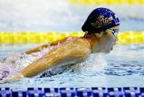 競泳女子200メートルバタフライで優勝した須磨学園の西村麻亜 ©読売新聞社