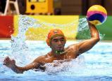 水球で、4点を挙げた向陽の木村勇太 ©読売新聞社