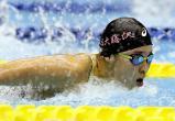 競泳女子400メートル個人メドレーで3位になった日大藤沢の佐々木杏奈 ©読売新聞社