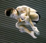 男子高飛び込みで3位になった小松市立の中秀太郎 ©読売新聞社