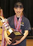 女子サーブルで優勝した玄界の高橋千里香選手