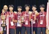 男子団体で優勝した大垣南の選手たち
