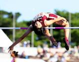 女子走り高跳びで準優勝した和歌山北の松本万鈴選手