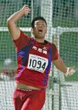 男子ハンマー投げで優勝した市尼崎の執行大地選手