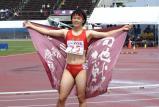 女子200メートルで優勝した立命館慶祥の石堂選手