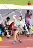 女子やり投げで優勝した近江の木村玲奈選手