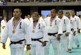 柔道男子団体で3位となった埼玉栄の選手たち