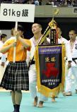 柔道男子81キロ級で優勝した大牟田の竹市選手
