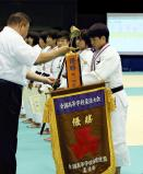 柔道女子63キロ級で、優勝した大牟田の山口葵良梨選手