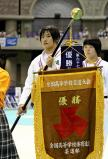 柔道女子78キロ級で、優勝した富士学苑の黒田亜紀選手