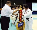 柔道女子78キロ超級で、優勝した藤枝順心の米川明穂選手