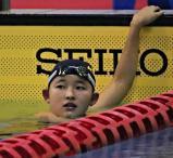 競泳女子400メートル自由形で準優勝に輝いた春日部共栄の武田選手
