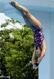 女子高飛び込みで優勝した高知商の山崎選手