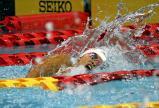 競泳女子200メートル自由形で4位に入賞した西城陽の辻選手
