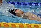 男子200メートル背泳ぎで3位になった鹿児島情報の西小野選手