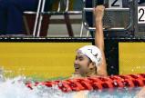 女子800メートル自由形で準優勝した八王子の小林選手
