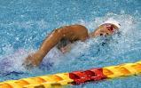 競泳女子100メートル自由形で優勝した日大藤沢の大内紗雪選手