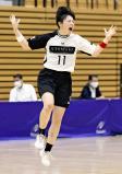 ハンドボール女子決勝、試合終了間際に決勝点を決め、雄たけびを上げる名古屋経大市邨・水谷朱里