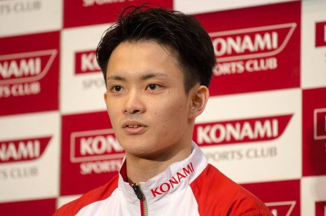 体操日本代表の田中佑典(2016年7月1日)撮影:五味渕秀行