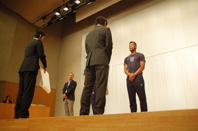 リオデジャネイロ五輪陸上短距離の日本代表、桐生祥秀とウォルシュ ジュリアンの壮行会が東洋大で開催(2016年6月28日)撮影:大日方航