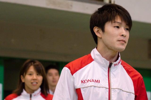 体操日本代表の内村航平(2016年7月1日)撮影:五味渕秀行