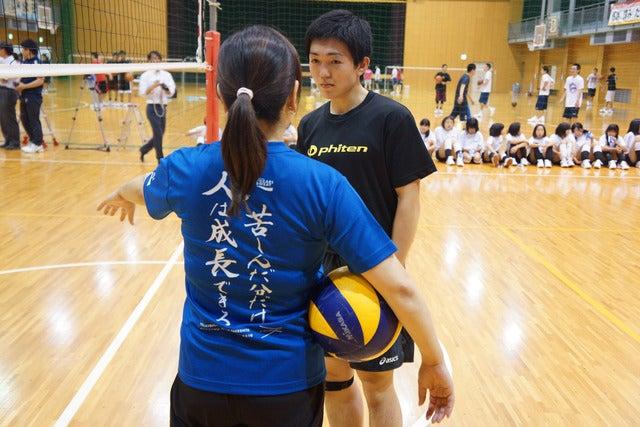 バレーボール元日本代表主将・竹下佳江が天理高校を訪問、部員を指導