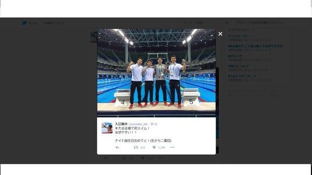 競泳・入江陵介、メインプールで初スイム!「泳ぎやすい!」