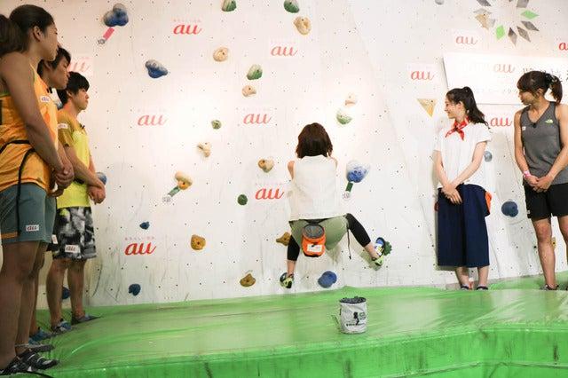 足立梨花・筧美和子、ボルダリングに挑戦…ハードさに思わず悲鳴