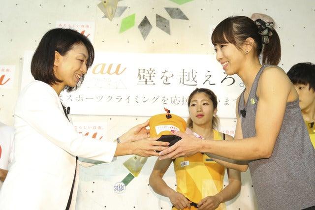 スポーツクライミングTEAM au結成発表会、野中生萌「世界へ広げたい」