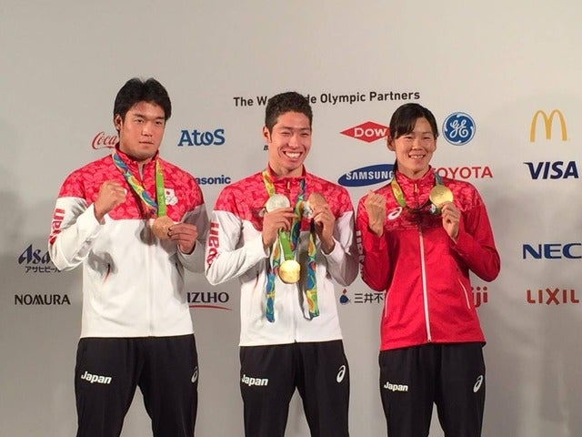 【リオ2016】金、銀、銅メダルを獲得した萩野公介、それぞれのメダルの重みは異なるのか?撮影者:大日方航
