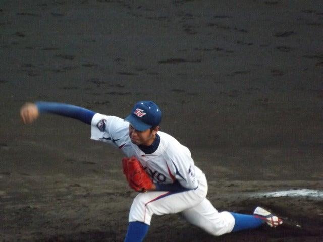 制球力のいい帝京大・小倉君(3年・岡山学芸館)