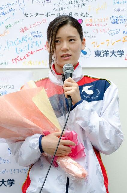 内田美希(2016年5月16日、リオ五輪代表選手壮行会)撮影:五味渕秀行