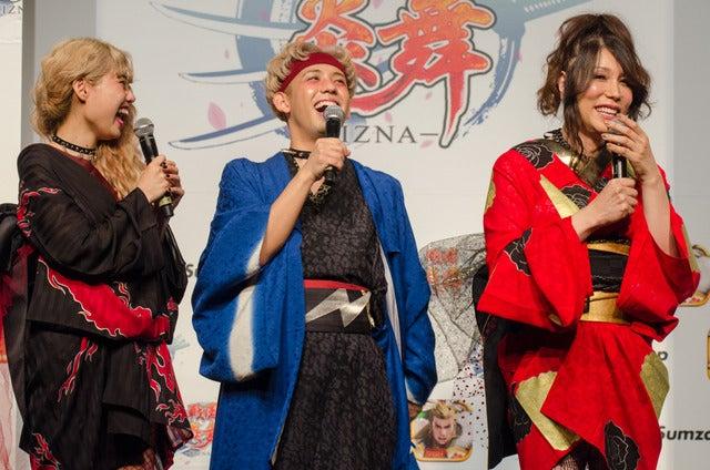 戦国スマホゲーム『戦国炎舞 -KIZNA-』プロモーション発表会(2016年10月5日)撮影:五味渕秀行