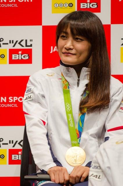 スポーツくじ(toto・BIG)感謝イベントに登壇した伊調馨(2016年10月6日)撮影:五味渕秀行