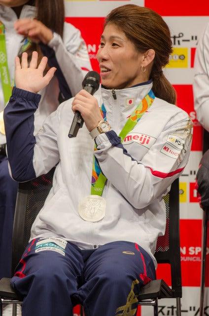 スポーツくじ(toto・BIG)感謝イベントに登壇した吉田沙保里(2016年10月6日)撮影:五味渕秀行