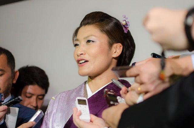 伊調馨に国民栄誉賞が授与された(2016年10月21日)撮影:五味渕秀行