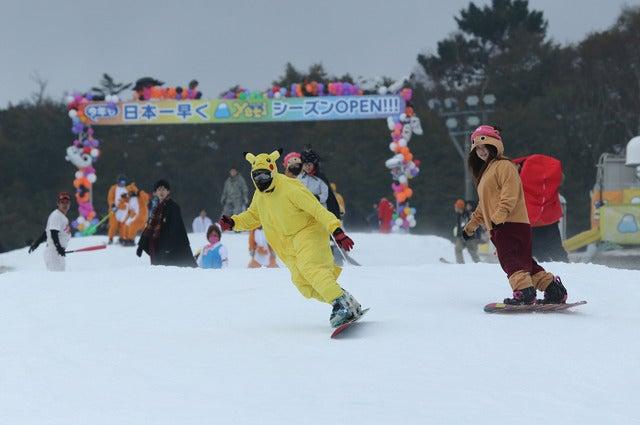 富士山のスキー場イエティ、ハロウィンパーティーを開催