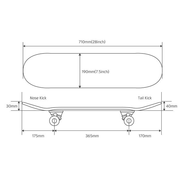 ダブスタック「スケートボードセット DSB-18」