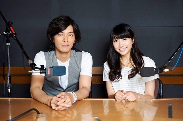 TOKYO FM『TOYOTA Athlete Beat』パーソナリティーの藤木直人(左)と伊藤友里