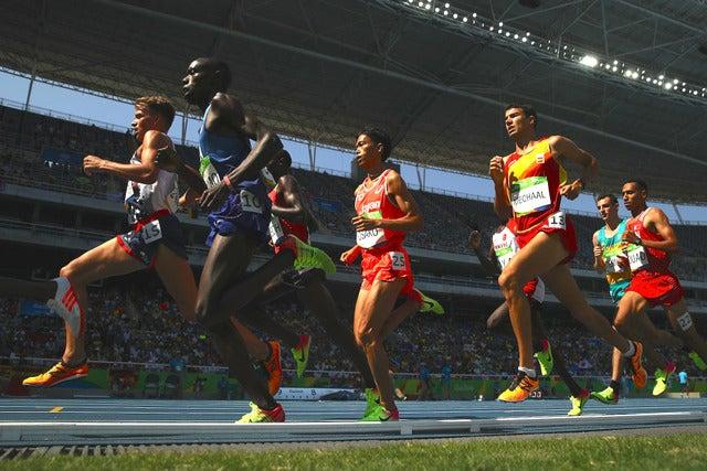 リオデジャネイロ五輪陸上男子5000mを走る大迫傑 参考画像(2016年8月17日)(c) Getty Images