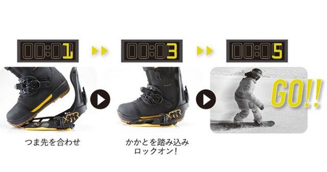 ヨネックス、素早く着脱できるスノーボードブーツ&バインディング発売