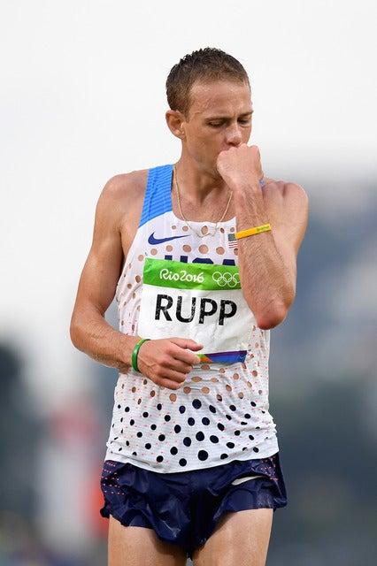 リオデジャネイロ五輪男子マラソンでゲーレン・ラップが3位に(2016年8月21日)(c) Getty Images