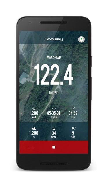 雪山で滑走距離やスピードを記録できるアプリ『Snoway-スキー&スノーボード滑走記録』