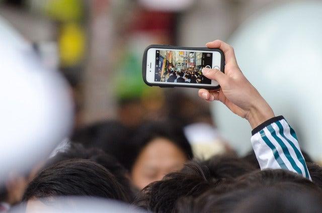 青山学院大学が箱根駅伝三連覇を記念したパレードを渋谷で実施(2017年1月7日)撮影:五味渕秀行